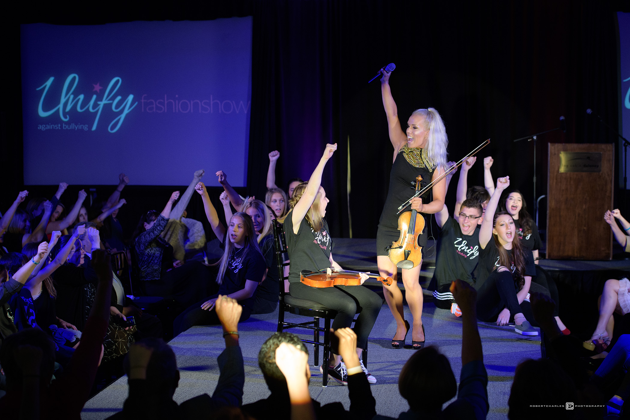 Icelandic Performer Spreads the Pozzi Power At UnifyAgainstBullying Fashion Show